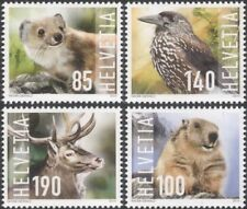 Svizzera 2014 Cervi/Weasel/Marmot/SCHIACCIANOCI/Animali/Birds/NATURA 4v (ch1011)
