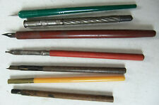 RARE, VINTAGE MIXED SET OF OLD CALLIGRAPHY DIP PENS, ETC -WOLFF & SON, WELL-USED