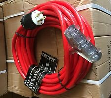 New Century Wirecable Extension 30 Amp 50 Generator Cord With3 Outlets