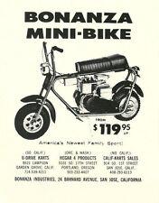 Vintage 1966 Bonanza Mini-Bike Ad