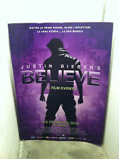 JUSTIN BIEBER display cartonato stand standee Film Movie BELIEVE Promo 100 x 70