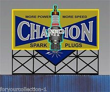 Miller's Champion Spark Plugs  Animated Neon Sign Miller Engineering