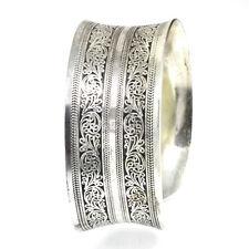 White Works Metal Cuff Artisan Handcrafted Nepalese Tibetan Jewelry 0712131F