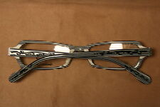 Vintage Style Eyeglasses Black And White Stripes With Scroll Work So Nice!!!