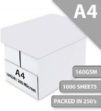 Printer and Craft Card 160GSM Box A4 White Thin Pack Size : 1000 Sheets