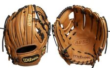 """Wilson A950 Adult Leather Baseball Glove New 11.5"""" Broken In Ready Infield Brown"""