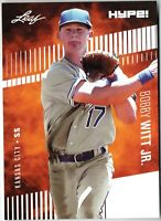 Bobby Witt Jr. 2019 Leaf HYPE! #25 Just 5000 Made, 25 Rookie Card Lot Royals