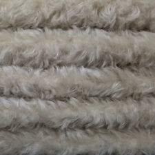 """1/6 yd 785S/C Oatmeal Intercal 3/4"""" Med Density Curly German Mohair Plush Fabric"""