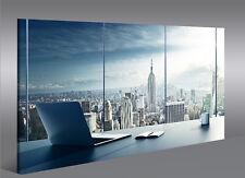 Bild auf Leinwand Manhattan V2 New York Büro 1K Leinwandbild Wandbild Poster