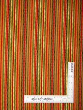 Autumn Stripe Fabric - Green Red Orange Brown #25608 SPX Grateful Harvest - YARD