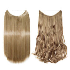 Long As Human 100% Natural Invisible Wire Hidden Crown Hair Extensions One Piece