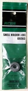RCBS SHELL HOLDER #3, NEW IN PACKAGE