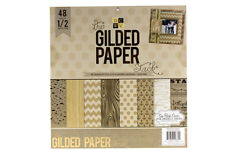 DCWV The Gilded Paper Stack 48 Sheets of 12 x 12 Printed Cardstock Scrapbooking