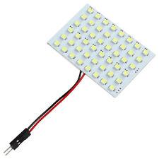 4W 3 adaptadores 48 SMD LED Panel Blanco interior del coche de la luz de bóveda