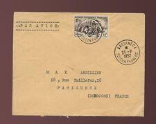 FRENCH SAHARA BAGUINEDA MALI AIRMAIL 1953 CLEAR POSTMARKS