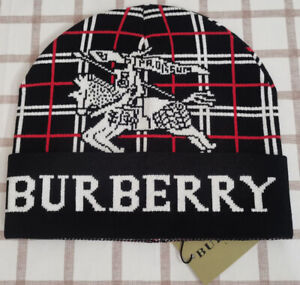 Burberry Beanie Hat Winter Cap Black