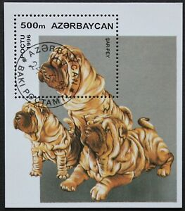 "Aserbaidschan: Michel Block-Nr. 22 ""Hunde"" aus 1996, gestempelt"