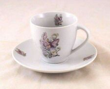 Tea / Coffee Cut w/ Saucer - Lilac Fairy - Reutter Porcelain 74.074/4
