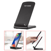 10W QI Wireless Fast  Charger for Samsung Charging Stand Holder for iPhone X 8 T