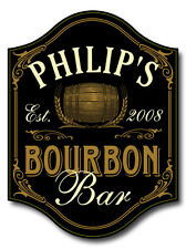 Personalized BOURBON BAR Sign, Home, Bar, Man Cave, Pub