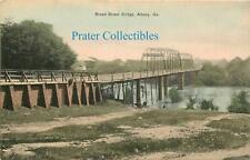 Georgia, GA, Albany, Broad Street Bridge 1910's Postcard