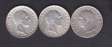 1935+1937 Albania.2x1 FR.AR.+1939 5Leke(Italy 0ccup) Silver coins 3x5 gr  1104