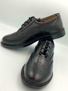 Ghillie Brogues Scottish Kilt Shoes, Black Leather Ghillie Brogues, Sizes 5-13