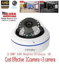 2.0MP 1080P HD AHD CVI TVI  Analog wired Security Camera 180 degree Fisheye Dome
