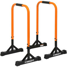 Mirafit Dip Bars Pull/Push Up Gymnastics/Calisthenics Tall Parallettes Parallel