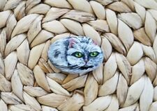 Cat 1,5x2 in. Hand Painted on a rock artist V.Kovtun / amazing gift