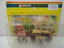 Noch 1198 - H0 - Pferdegespann mit Strohfuhr + 2 Figuren - TOP in OVP - #8185