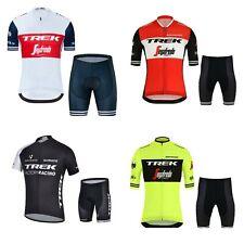 2020 Adults Trek Team Cycling Jersey Set Gel Padded Shorts Bike Team Kit
