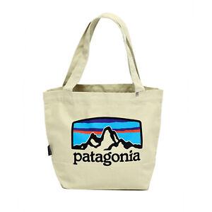 Patagonia - Mini Tote Cotton Bag - Fitz Roy Horizons: Bleached Stone