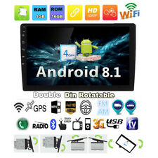 """2 Din Rotatable 10.1"""" Android 8.1 Car Stereo Radio GPS WiFi 1+16 G TPMS OBD"""