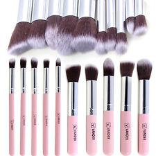 10pcs Professional Makeup BrusheS Set Cosmetic Foundation Eyeshadow Kabuki Pink;