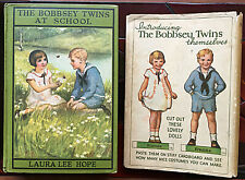 uncut paper dolls on 1931/1932 dustjacket The Bobbsey Twins At School book 1913
