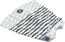 BLOCK SURF USA  surfboard traction tail pad stomp pad 3 piece VIPER WHITE-BLACK