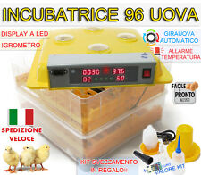 INCUBATRICE 96 UOVA PROFESSIONALE AUTOMATICA GIRAUOVA + KIT SVEZZAMENTO GRATIS!!