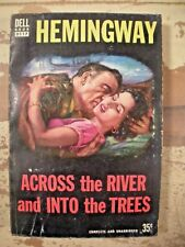 ACROSS THE RIVER AND INTO THE TREES Hemingway DELL D117 1952 Paperback