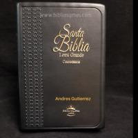 """BIBLIA REINA VALERA 1960 LETRA GRANDE MANUAL CONCORDANCIA """"PERSONALIZADA"""""""