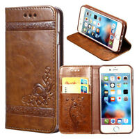 Blossom Embossed Magnetic Flip Leather Wallet Stand Case Cover For Phones