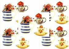 Anne Geddes BABY TEA CUPS Pots Scrapbook Stickers! 5 Sheets