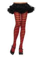 BLACK AND RED STRIPE TIGHTS One Size TIGHTS COSTUME FANCY DRESS FAST FREE POST