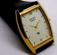 seiko quartz men's nice white color dial japan Excellent watch working order