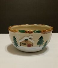 St Nicholas Square Heartland Christmas Winter Snow Soup Cereal Bowl