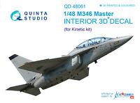 Quinta QD48061 1/48 M346 Master 3D-Printed&coloured interior (for Kinetic kit)