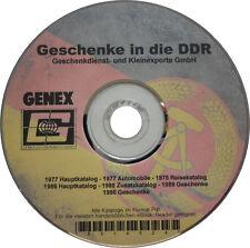 GENEX Katalog Geschenke DDR 1977 1978 1986 1988 1989 1990 Automobile Reise CD