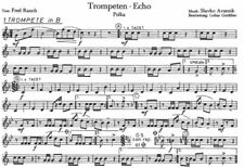 Trompeten-Echo Polka - German Deutsch Oktoberfest Band Sheet Music