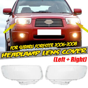 For Subaru Forester 2006-2008 Headlight Front Light Lens Head Lamp Cover Cap L+R