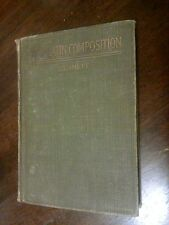 Vtg 1912 New Latin Composition Charles E. Bennett Cloth Hardcover DRAWING LOOK!!